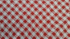 "Chiffon Yoryu Plaid/Check Red and White printed,55/56"" width,by the yard"