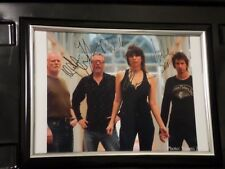 """THE PRETENDERS PROMO Fully signed 8 x 10"""" Photo Framed"""