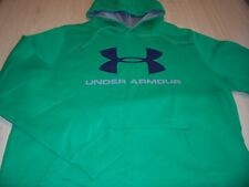 UNDER ARMOUR LOOSE FIT LONG SLEEVE GREEN HOODIE MENS LARGE EXCELLENT