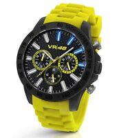 TW Steel Valentino Rossi VR 46,  45mm Yellow Strap Chronograph Watch VR112