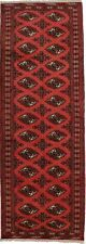 Rare Hallway Kitchen Geometric Design 3'5X9'7 Tribal Runner Rug Oriental Carpet