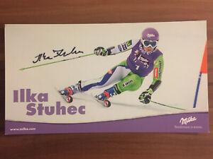 Handsignierte Autogrammkarte *ILKA STUHEC* slowenische Skirennläuferin Slowenien