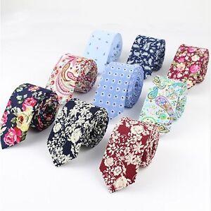 Men's fashion cotton floral business formal wedding party slim necktie Tie