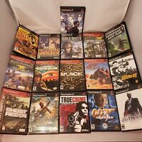 PS2 16 game shooter bundle lot 007, COD, SOCOM, Cabelas, Ghost Recon, 9 more