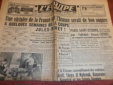 L'EQUIPE FRANCE / ECOSSE 1950