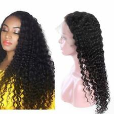 10-22inch Deep Curly Wave 100% Brazilian Virgin Human Hair Full/Front lace Wigs