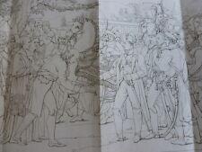 GRAVURE / EMPEREUR RECEVANT LES CLEFS DE VIENNES M.Gautherot ( gd format )