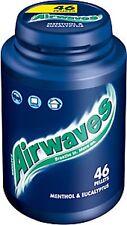 1 x Wrigley's Airwaves Sugarfree Gum - Menthol & Eucalyptus 46 Pieces Bottle