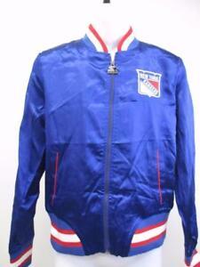 New York Rangers Womens Size M Medium Red/Blue Starter Light Satin Jacket