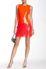 Kate Spade Red Pink Geranium Sequin Dress Take Walk on Wild Side Sz 2 $598 NWT