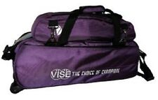 Vise 3 Ball Tote Bowling Bag with shoe pocket Color Purple