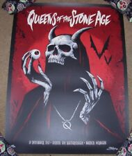 QUEENS OF THE STONE AGE concert gig poster MUNICH 11-10-17 2017 Brandon Heart