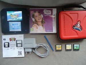 Console nintendo 2DS + 5 jeux 3DS et DS + accessoires