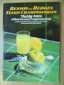 Tennis Memorabilia- 1983 Tennis Championships Official Souvenir Programme,13 Nov