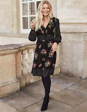 BODEN dress size 10 reg ivy dress black country posy colour W0403