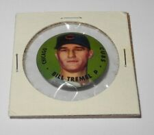 1956 Topps Baseball Pin Button Coin Pinback Bill Tremel Chicago Cubs