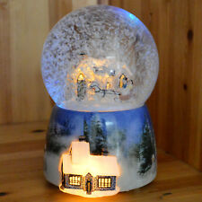 Musical Christmas Snow Globes Glitterdome Xmas Crystal Ball LED Globe Decoration