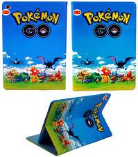Per iPad Mini 4 Happy POKEMON ANIME Pokeball Smart Stand Custodia Cover Sonno-Veglia