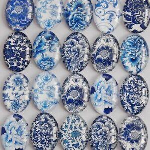 Brooch Base Porcelain Oval Glass Cabochon Flatback Photo Tray Blank DIY Making