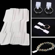 100pcs/lot Blank Jewelry Ring Bracelet Price Necklace Label Sticker Display Tags