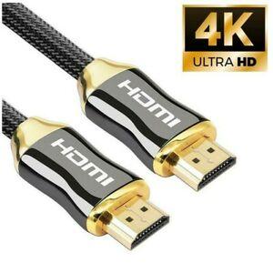 4K HDMI Premium High Speed 2.0 Cable 2160p Ultra HD Gold Plated TV PS4 Sky Xbox