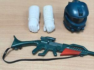 Vintage Action Man Space Ranger Accessories helmet gun gloves gauntlets spares