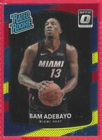 2017-18 Donruss Optic Red Yellow Blue Bam Adebayo Rated Rookie RC #187 Miami