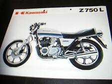 Kawasaki Z 750 L     (depliant-prospekt-brochure)  ITALIANO