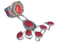 orient afghan nomaden tribal Armreif handschmuck Bracelet hand jewelry Korall