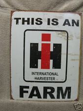 I H International Harvest Tractor Vintage Look Tin Metal Sign FARMING New Farm