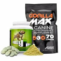 Bully Max & Gorilla Max Muscle Builders for dogs (Combo Pack) FREE SHIPPING