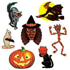 (12) Vintage Halloween Classic Cutouts PRTD 2 Sides