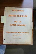 Massey Ferguson 50 Clipper Combine Parts Manual