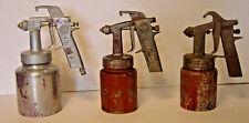 Lot of 3 Vintage Air Spray Gun & Cup W R Brown Speedy 112 C Thomas SprayIt Paint