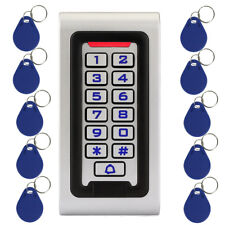 Waterproof Keypad RFID ID Card Reader Door Access Control+10x RFID Card Keyfobs