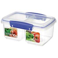 Sistema KLIP IT Split Food Storage Container Lunch Box - 1 Litre - Clear & Blue
