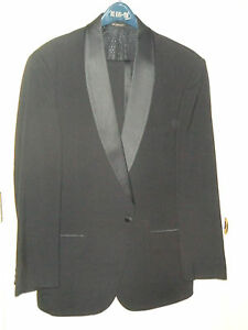 Vintage 48 Regular Black and Red Bill Blass 3-Piece Suit