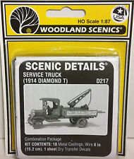 HO/HOn3 Scale Woodland Scenics '1914 Diamond T Service Truck' KIT, Item #D217