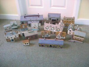 15 Cardboard Kit & Scratch Built HO OO Gauge Buildings - Houses Shop Engine Shed