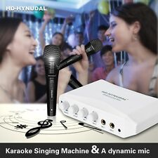 Karaoke Mixer Set Headphone Monitor HDMI Port for TV DVD PC Mobile + Dynamic Mic