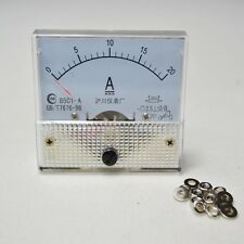 TOP DC 20 Amp Analog Amp Meter Panel Mount 85C1