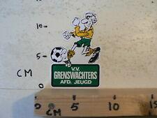 STICKER,DECAL V.V. GRENSWACHTERS AFDELING JEUGD VOETBAL SOCCER FOOTBALL