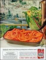 1963 Italy seashore homes Chef Boy-Ar-Dee sauce vintage photo print ad adl83