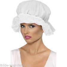 Women's Fancy Dress White Mop Cap Old England Costume Victorian Nurse Maid Hat