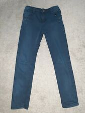 mayoral girls jeans navy. age 7 years.  girls designer clothing
