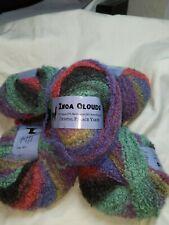Lot of 5 Crystal Palace Inca Clouds Alpaca Boucle Self Striping Yarn