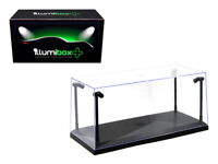 Collectible Display Show Case with LED Lights for 1/18 1/24 Models with Black...