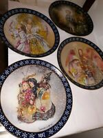 Set of 4 Vintage-von Sulamith Wulfing-CHRISTMAS COLLECTOR PLATES 1987/88/90/92🎄