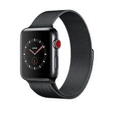 Apple Watch Series 3 38mm Space Black Stainless Steel Case With Milanese Loop