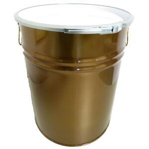 Sonderposten 30 Liter Hobbock / Deckelfass Stahlfass Fass Mülleimer GOLD
